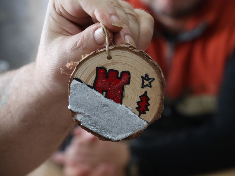 Clubhouse Gibraltar members Christmas Tree Ornament